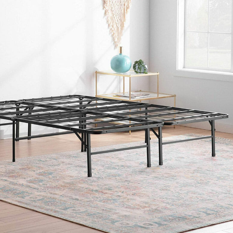 Linenspa 14-Inch Folding Metal Platform Bed Frame