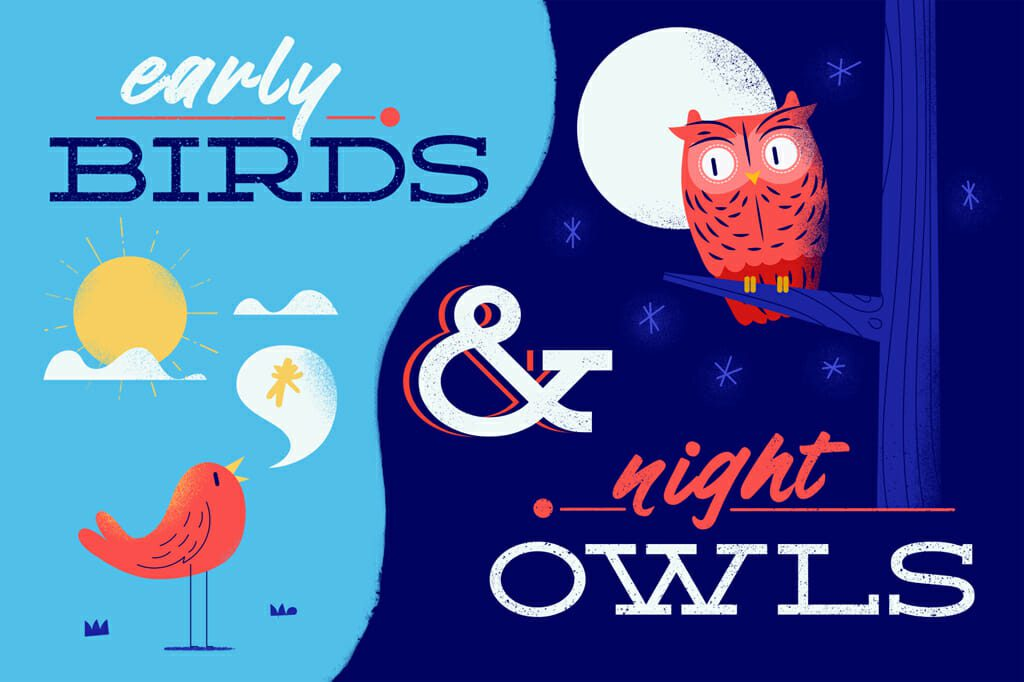 Header Early Birds and Night Owls
