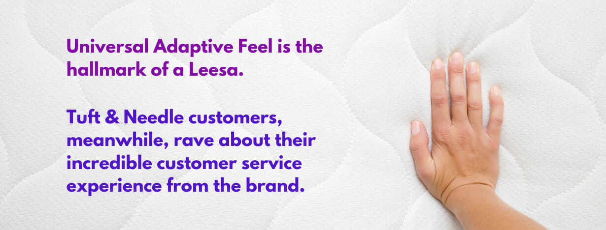Leesa vs. Tufts & Needle fact 1