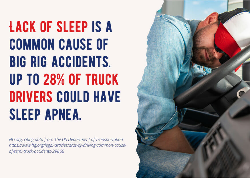 Trucker Mattress - drowsy driving fact